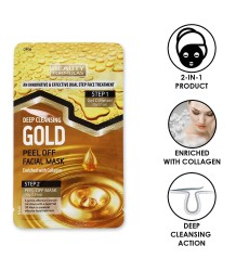 Beauty Formulas Deep Cleansing Gold Peel Off Facial Mask