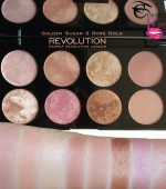 Revolution Golden Sugar 2 Rose Gold Bronze & Highlight Palette